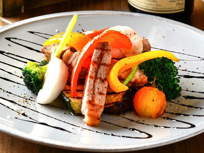 十勝野ポークと野菜のグリル